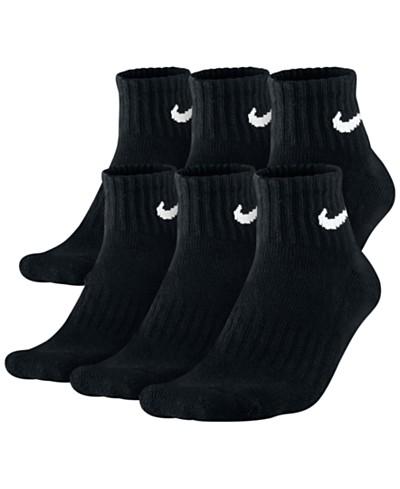 Nike Men's Socks, Cotton Quarter 6 Pairs