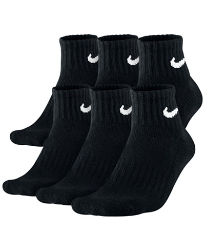 Nike Men's Socks, Cotton Quarter 6 Pairs