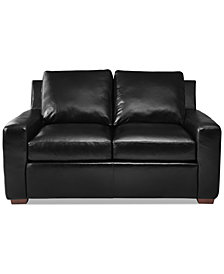 "Lisben 60"" Leather Loveseat"