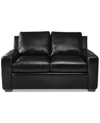 lisben leather loveseat - Black Leather Loveseat