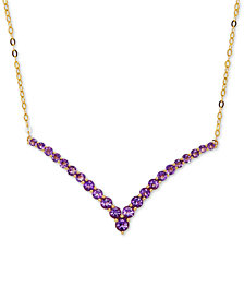 Amethyst V Collar Necklace (1-1/6 ct. t.w.) in 14k Gold