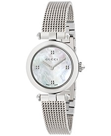 Women's Swiss Diamantissima Stainless Steel Mesh Bracelet Watch 27mm YA141504