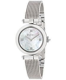 Gucci Women's Swiss Diamantissima Stainless Steel Mesh Bracelet Watch 27mm YA141504