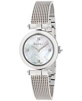 7a2d16c80cd Gucci Women s Swiss Diamantissima Stainless Steel Mesh Bracelet Watch 27mm  YA141504