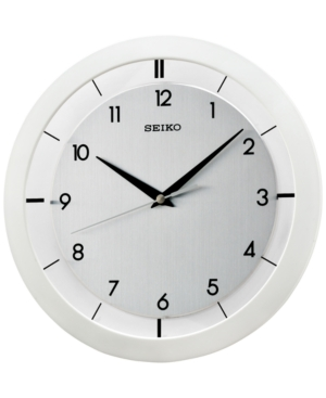 Seiko White Resin Wall Clock