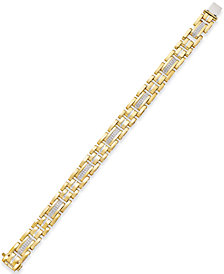 Men's Diamond Link Bracelet (1/2 ct. t.w.) in 10k Gold