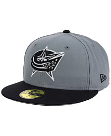 New Era Columbus Blue Jackets Gray Black 59FIFTY Cap