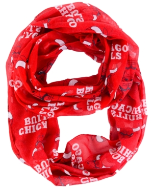 Chicago Bulls All Over Logo Infinity Wrap Scarf