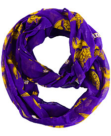 Forever Collectibles Minnesota Vikings All Over Logo Infinity Wrap Scarf