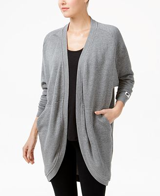 Nike Modern Fleece Open-Front Cardigan - Tops - Women - Macy's