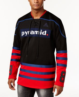 Black Pyramid Men's Three-Stripe Hockey Jersey