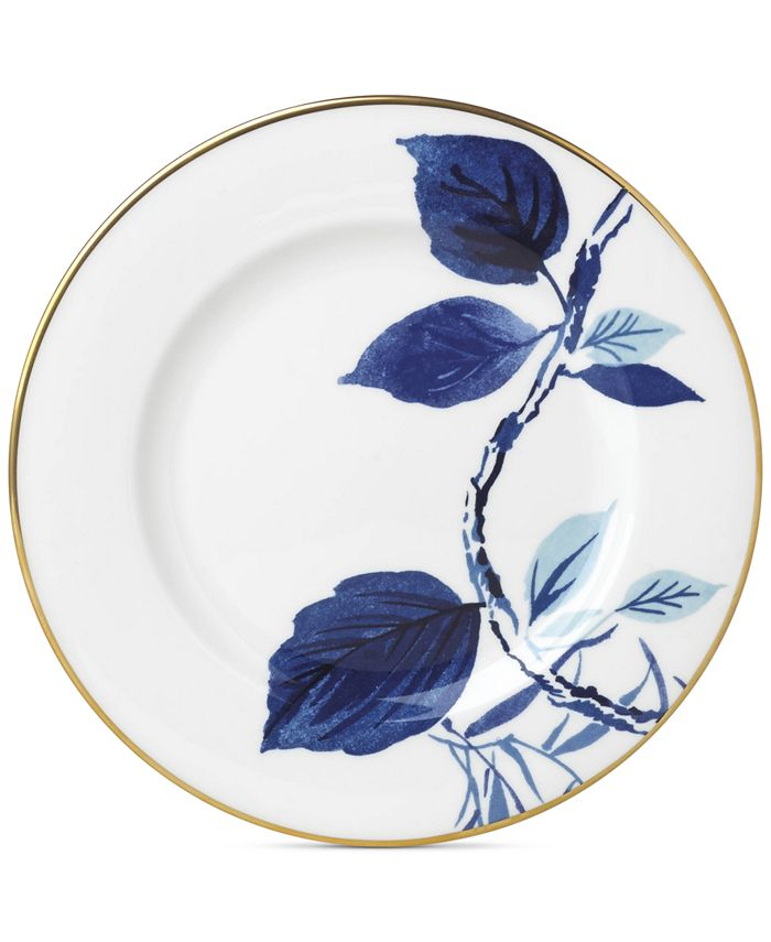 kate spade new york - Birch Way Navy Collection Salad Plate