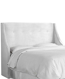 Galvez Queen Tufted Wingback Headboard, Quick Ship