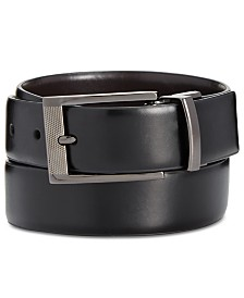 Alfani Men's Big & Tall Reversible Grained Belt, Created for Macy's