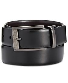 Alfani Men's Big & Tall Reversible Grained Belt, Created for Macy's