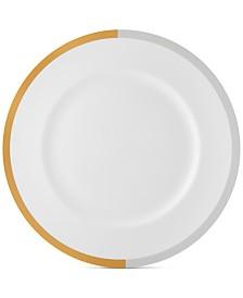 Vera Wang Wedgwood Castillon Gold/Gray Collection Dinner Plate
