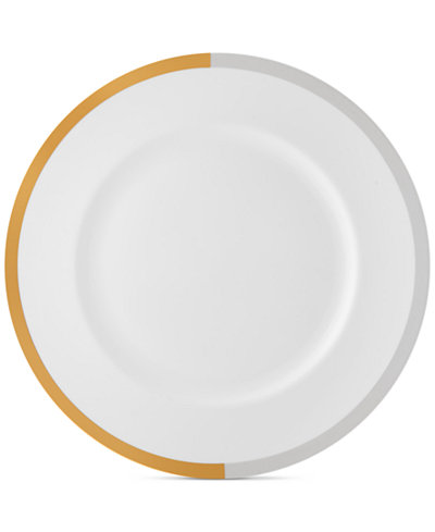 Vera Wang Wedgwood Castillon Gold/Gray Collection Dinner Plate
