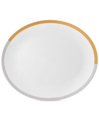 Castillon Gold/Gray Collection Oval Platter