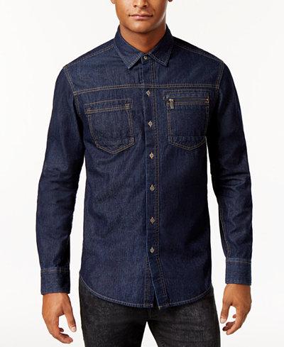 Sean john men 39 s denim shirt casual button down shirts for Sean john t shirts for mens
