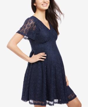 Vintage Style Maternity Clothes Motherhood Maternity Lace Dress $34.97 AT vintagedancer.com
