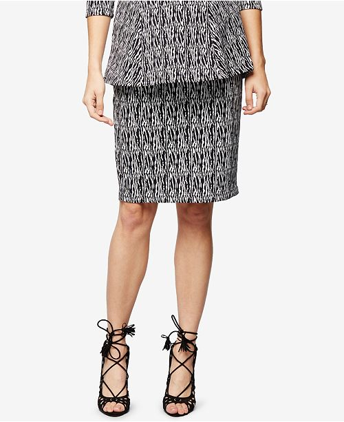 A Pea in the Pod Maternity Jacquard Pencil Skirt