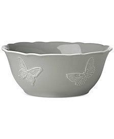 Lenox Butterfly Meadow Carved Collection Serving Bowl
