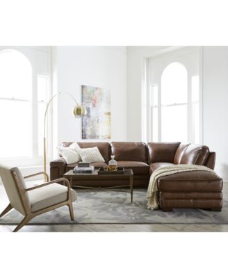 Myars Leather Sectional Collection, Created for Macy's Only at