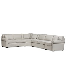 "CLOSEOUT! Astra 5-Pc. ""L"" Shaped Fabric Sectional, Created for Macy's"