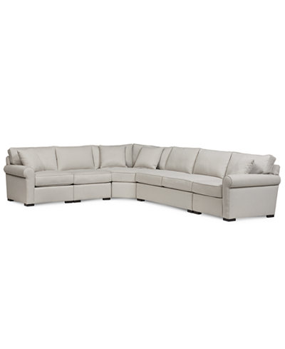 Astra 5-Pc. ''L'' Shaped Sectional with Armless Apartment Sofa, Created for Macy's