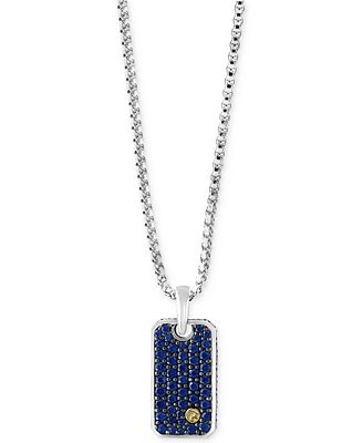 Effy® Men's Sapphire Dog Tag Pendant Necklace (138 Ct T. Silver Earrings. Silver Charm Bangle. Thin Bangle Bracelets. Copper Watches. Mother Bracelet. Akoya Pearl Stud Earrings. Aqua Necklace. Royalty Engagement Rings