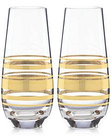 kate spade new york Hampton Street Set of 2 Stemless Champagne Glasses