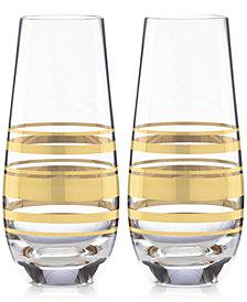 kate spade new york Hampton Street Set of 2 Stemless Champagne Glasses