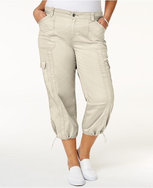 24e4810242ed6 ... Style   Co Plus Size Capri Cargo Pants
