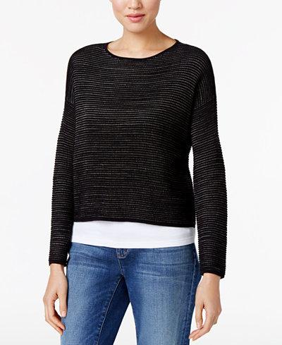 Eileen Fisher Silk-Linen-Blend Sweater