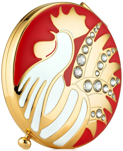 "Estee Lauder Gold-Tone ""Year of the Rooster"" Compact"