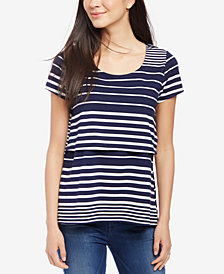 Motherhood Maternity Nursing Striped Top