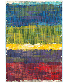 "CLOSEOUT! JHB Design Vibe Brushstroke 5'3"" x 7'6""Area Rug"