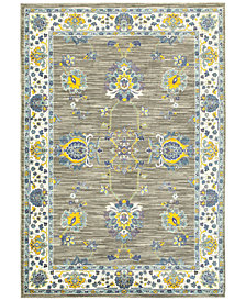 "CLOSEOUT! JHB Design Vibe Isfahan Gray 5'3"" x 7'6""Area Rug"