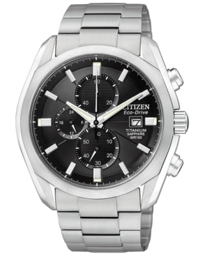 Citizen Men's Eco-Drive Titanium Bracelet Watch 43mm CA0020-56E
