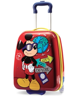 """Disney Mickey Mouse 18"""" Hardside Rolling Suitcase by American Tourister"""