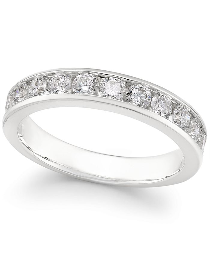 Macy's - Diamond Channel-Set Band (1-1/2 ct. t.w.) in 14k Gold or White Gold