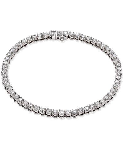 Certified Diamond Tennis Bracelet (4 ct. t.w.) in 14k White Gold