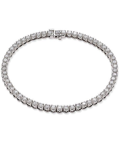 Macy's Certified Diamond Tennis Bracelet (4 ct. t.w.) in  14k White Gold