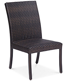 CLOSEOUT! Savannah Outdoor Armless Dining Chair, Created for Macy's