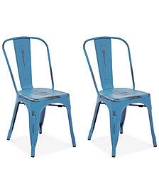 Galan Metal Chairs (Set Of 2), Quick Ship