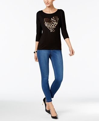 Thalia Sodi Metallic Graphic T-Shirt & Jeggings, Only at Macy's