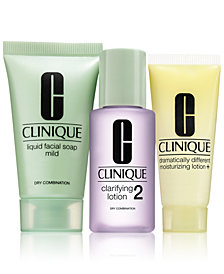 Choose your FREE 3-Step Kit with any Clinique foundation purchase!