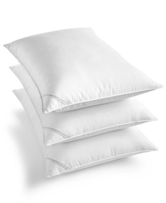 Diamond-Grid Feather & Down Wrap Firm Support King Pillow