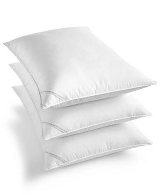 Diamond-Grid Feather & Down Wrap Medium Support Standard/Queen Pillow