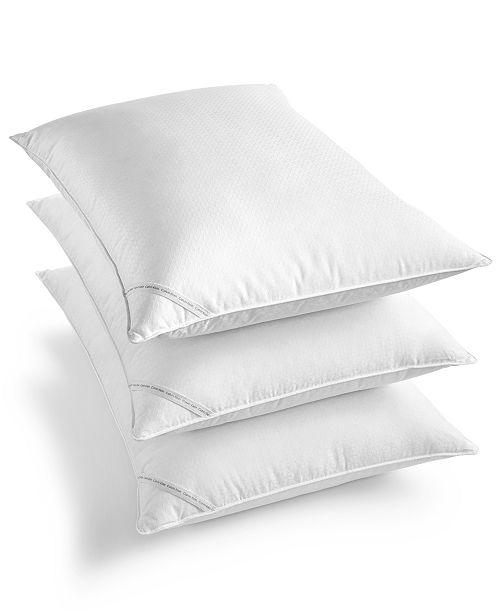 Calvin Klein Diamond-Grid Feather & Down Wrap Support Pillow Collection